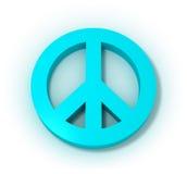 Símbolo pacífico azul Fotografía de archivo libre de regalías