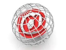 Símbolo para el Internet Foto de archivo
