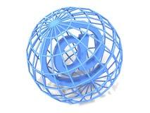 Símbolo para el Internet ilustración del vector