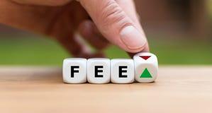 Símbolo para las tarifas cada vez mayores o de disminuciones fotos de archivo libres de regalías