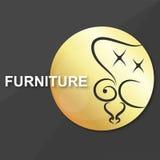 Símbolo para los muebles del vintage Imagenes de archivo