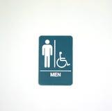 Símbolo para o quarto de homens imagem de stock