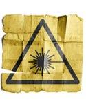 Símbolo para o sinal de aviso do laser ilustração stock
