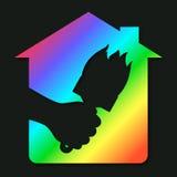 Símbolo para a pintura de casa ilustração stock