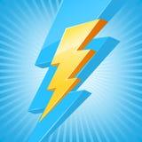 Símbolo poderoso da iluminação ilustração stock