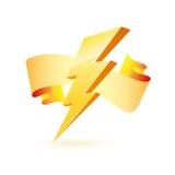 Símbolo poderoso da iluminação ilustração do vetor