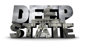 Símbolo político do Estados Unidos do estado profundo Foto de Stock