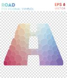Símbolo poligonal del camino libre illustration