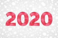 símbolo poligonal del vector 2020 Icono del triángulo del extracto de la Feliz Año Nuevo La Navidad Foto de archivo libre de regalías