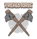 Símbolo prehistórico del hacha ilustración del vector