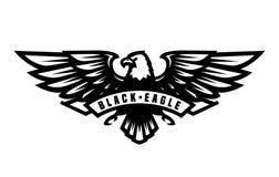 Símbolo preto da águia, emblema ilustração do vetor