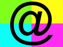 Símbolo preto do correio Imagens de Stock