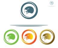 Símbolo principal del halcón Imágenes de archivo libres de regalías