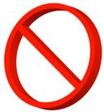 Símbolo prohibido Foto de archivo