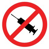 Símbolo proibido da droga Fotografia de Stock