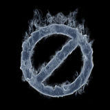 Símbolo proibido de fumo Fotografia de Stock Royalty Free