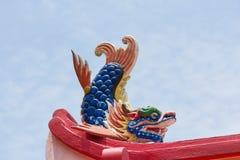 Símbolo propicio de los pescados del dragón por Año Nuevo chino Fotos de archivo