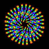 Símbolo psicodélico abstracto Fotografía de archivo libre de regalías