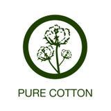 Símbolo puro da fabricação do algodão ilustração royalty free