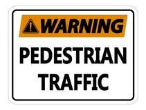 símbolo que adverte o sinal de tráfego pedestre no fundo branco ilustração do vetor