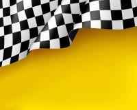 Símbolo que compete o fundo amarelo realístico da lona ilustração do vetor