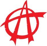 Símbolo quebrado de la anarquía plano Foto de archivo libre de regalías