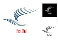 Símbolo rápido del correo Fotos de archivo libres de regalías