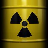 Símbolo radiactivo Fotos de archivo libres de regalías