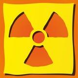 Símbolo radioativo Imagens de Stock
