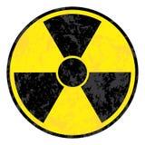 Símbolo radioativo ilustração stock