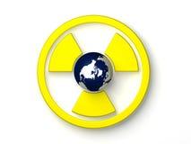 Símbolo radioativo ilustração royalty free