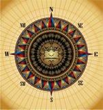 Símbolo real do windrose luxuoso do ouro ilustração royalty free