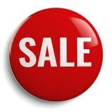 Símbolo redondo del icono rojo de la muestra de la venta Imagen de archivo
