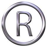 Símbolo registado Imagem de Stock Royalty Free