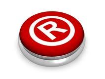 Símbolo registado em linha Fotografia de Stock Royalty Free
