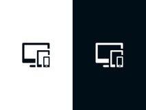 Símbolo responsivo ilustración del vector