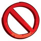 Símbolo restricto Foto de archivo