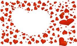 Símbolo rojo abstracto del corazón para el día del ` s de la tarjeta del día de San Valentín Fotografía de archivo