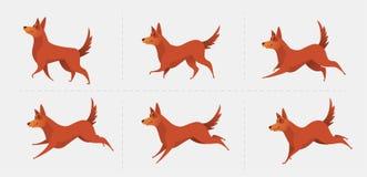 Símbolo rojo del perro del año 2018 ilustración del vector