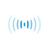 Símbolo sadio do logotipo da onda de rádio da conexão do sinal de Wifi Fotografia de Stock Royalty Free