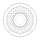Símbolo sagrado da geometria do triângulo da rotação Foto de Stock