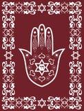 Símbolo sagrado judaico - hamsa ou mão de Miriam Imagens de Stock