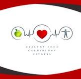Símbolo saudável do coração ilustração stock