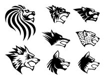Símbolo selvagem da besta ilustração royalty free