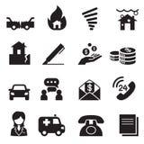 Símbolo Set3 da ilustração do vetor dos ícones do seguro Foto de Stock Royalty Free
