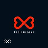 Símbolo sin fin del amor Foto de archivo libre de regalías