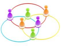 Símbolo social da rede como figuras humanas lig ilustração do vetor