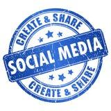 Símbolo social dos media ilustração royalty free