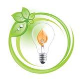 Símbolo sostenible de la bombilla Fotografía de archivo