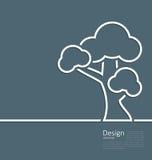 Símbolo sozinho estando da árvore, Web page do projeto, molde do logotipo ilustração royalty free